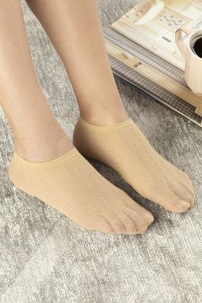 English Home Violet Kadın File Babet Çorap Ten