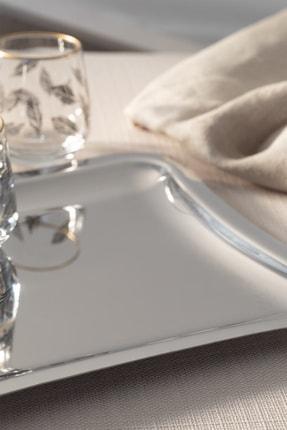English Home Shiny Metal Tepsi 22x19 Cm Gümüş