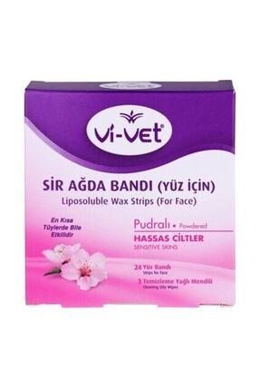 Vi-vet Yüz İçin Sir Ağda Bandı Pudralı 24'lü