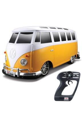 Maisto Tech Maisto 1:10 Volkswagen Van Samba Uzaktan Kumandalı Araba Sarı