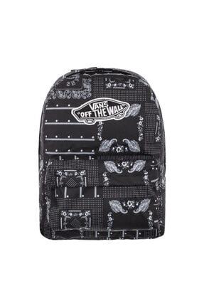 Vans Wm Realm Backpack Kadın Siyah Sırt Çantası Vn0a3uı6cq81