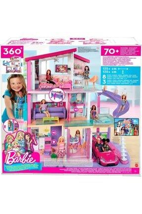 Barbie 'nin Üç Katlı Rüya Evi Ve Aksesuarları Oyun Seti, Havuzlu, Kaydıraklı, Asansörlü Bebek Evi Fhy73