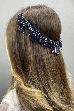 Hayalperest boncuk Lacivert Sıla Model Gelin Kına Saç Aksesuarı