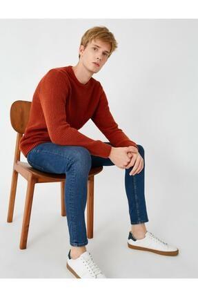 Koton Erkek Respect Life - Yasama Saygi - Justin Super Skinny Fit Jean Pantolon