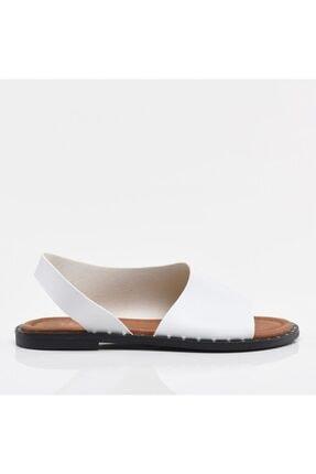 Hotiç Beyaz Yaya Kadın Sandalet & Terlik