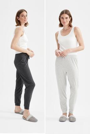 DeFacto Relax Fit Basic 2 Li Pijama Takımı