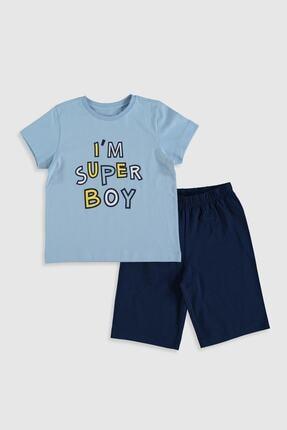 LC Waikiki Erkek Çocuk Mavi G4M Pijama Takımı