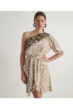 İpekyol Tek Omuz Çiçekli Elbise