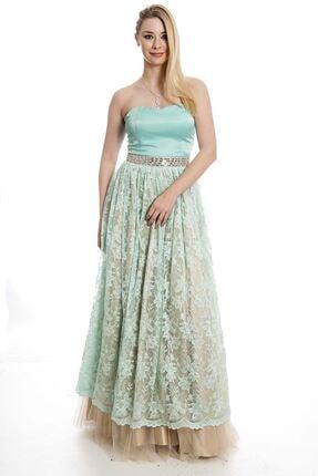 Modayız Kadın Mint Abiye Elbise