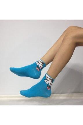ADEL ÇORAP Kadın Mavi Patik Çorap