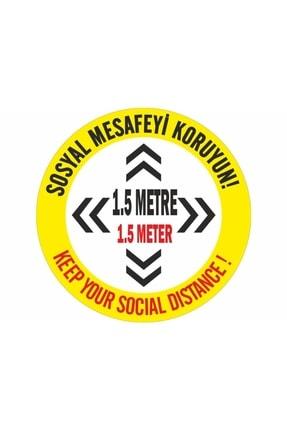 DMR Sosyal Mesafeyi Koruyunuz Türkçe İngilizce 20 Adet
