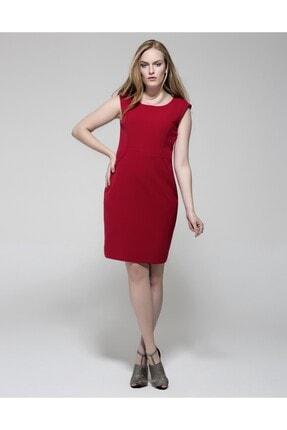 GEBE Kadın Kırmızı Büyük Beden Elbise
