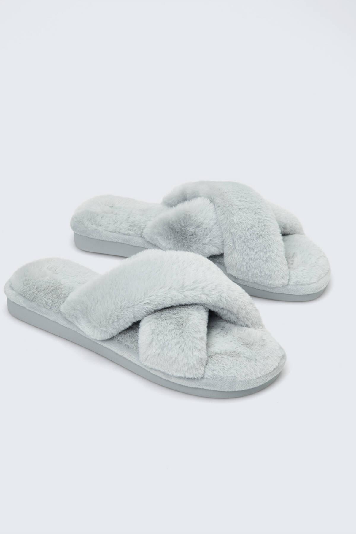 Oysho Kadın Gri Çapraz Sandalet