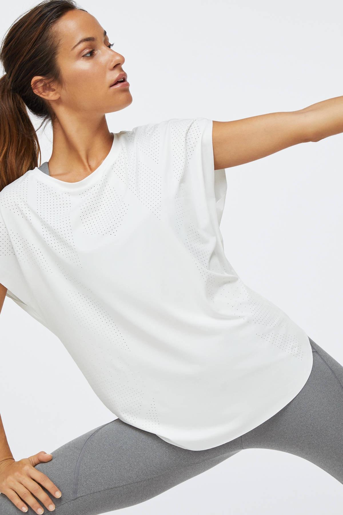 Oysho Kadın Beyaz Teknik Tişört