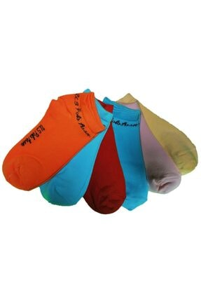 U.S. Polo Assn. Unisex Turuncu 6 Çift Pamuklu Comfort Patık Çorap U62