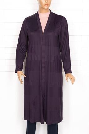 Defrina Kadın Mor Uzun Ceket