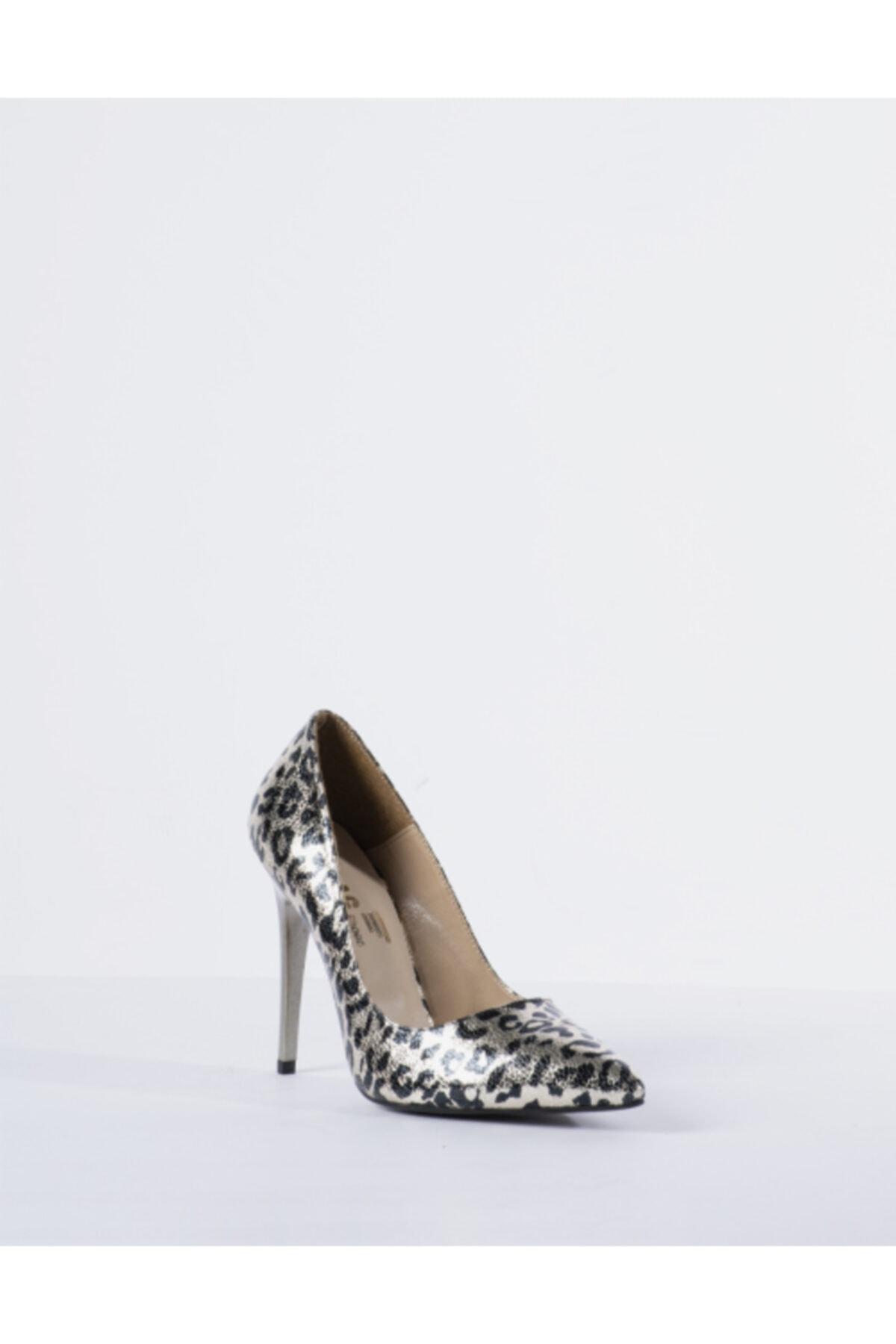 Vision Kadın Gri Leopar Desen Topuklu Ayakkabı 2