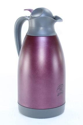 Cooker Ckr2026 Mor 2.0 Litre 304 Paslanmaz Çelik Çay Ve Su Termosu 24 Saat Sıcak Soğuk