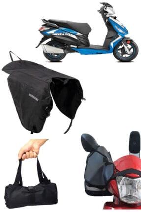 Carneil Motosiklet 3'lü Set Çok Amaçlı Çanta Koruyucu Kumaş Örtü  Su Geçirmez Elcik Ns340