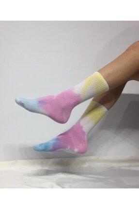 ADEL ÇORAP Unisex Batik Boyalı Çorap