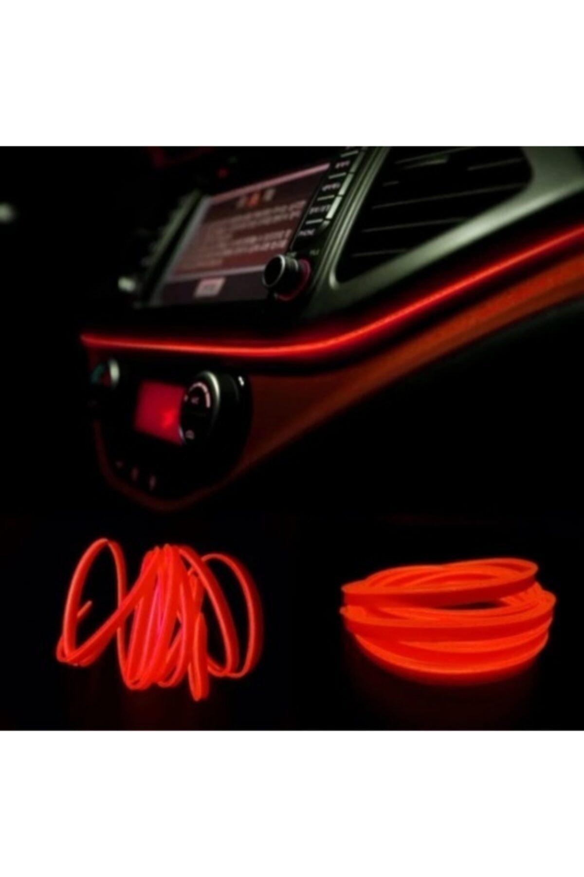 DEKOHOP Araç Içi Neon Ledi Ip Led 2 Metre Kırmızı 1
