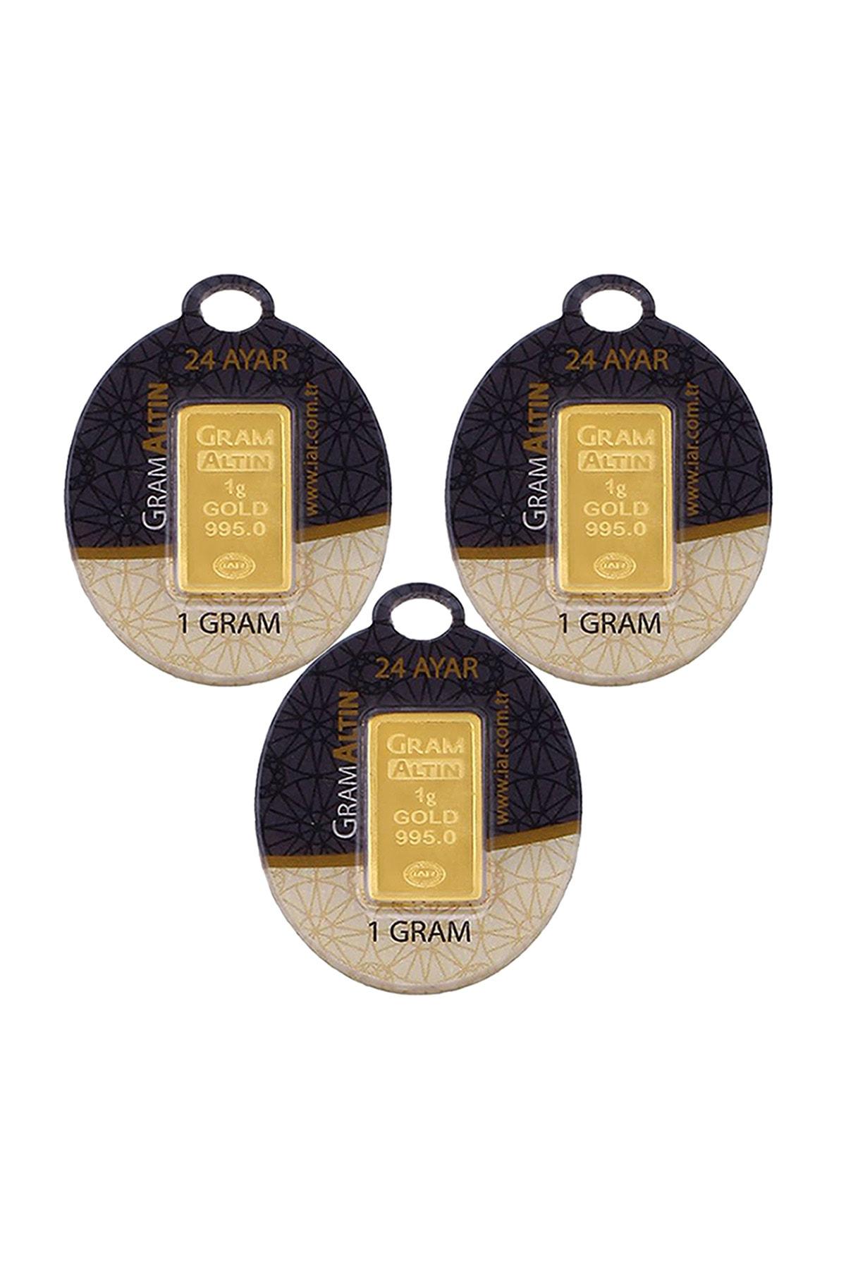 Tuğrul Kuyumculuk 3 Adet 1 Gr 24 Ayar Gram Altın G000043