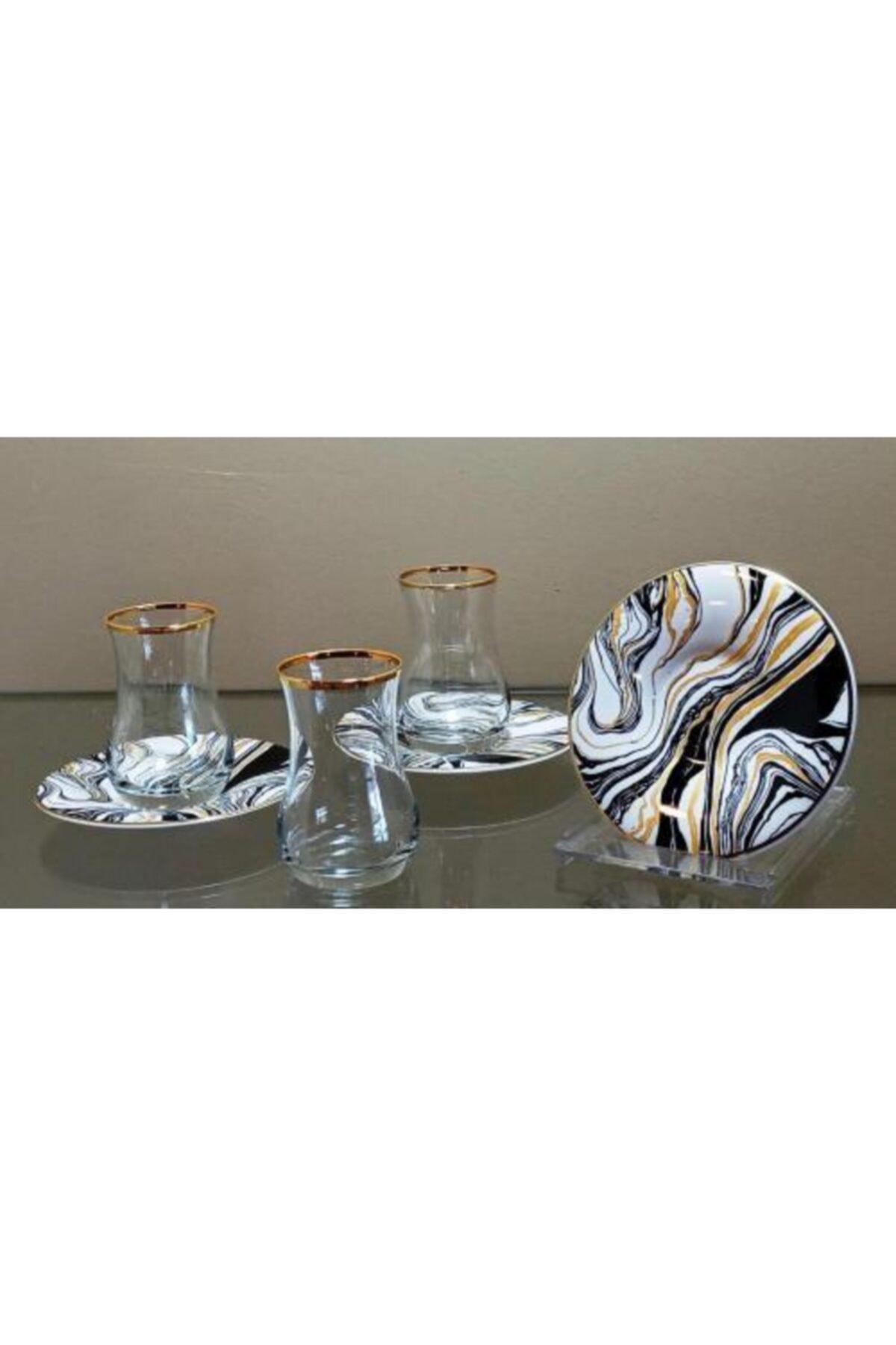 çerçi Homechic Carat Çay Seti 6 Kişilik Marble 2 1