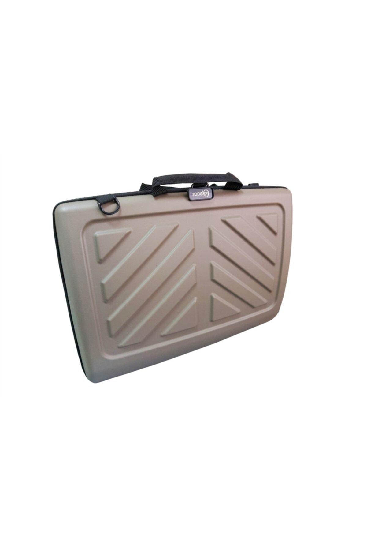Sapelon Bej Hard Case Laptop Çantası 2