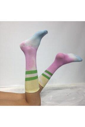 ADEL ÇORAP Batik Boyalı Unisex Çorap