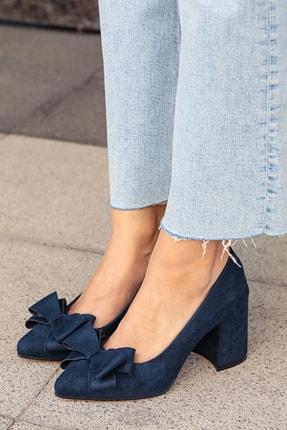 Mio Gusto Lacivert Kadın Topuklu Ayakkabı 002057DB