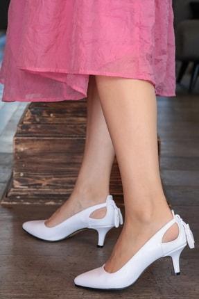 Mio Gusto Beyaz Kadın Topuklu Ayakkabı 009037WH