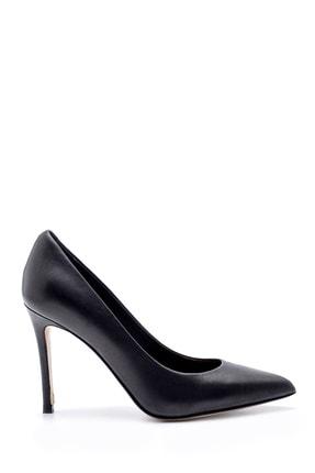 Derimod Kadın Siyah Deri Stiletto