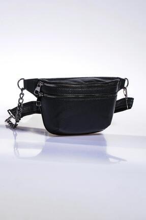 Sergio Giorgianni Kadın Siyah Bel Çantası sg662-natural siyah