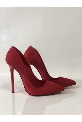 HAYYSHOES Kadın Kırmızı Stiletto Topuklu Ayakkabı