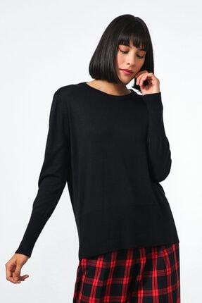 Gusto Kadın Siyah  Triko Bluz