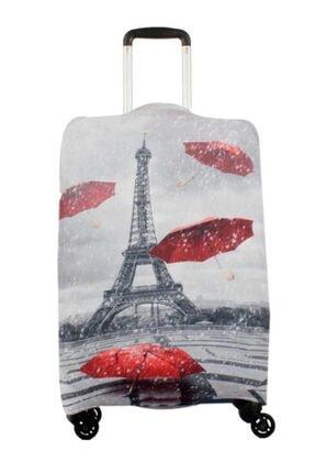 NK Valiz Koruyucu Kılıf Büyük Boy Mv8818 M14 Şemsiyeler Eiffel