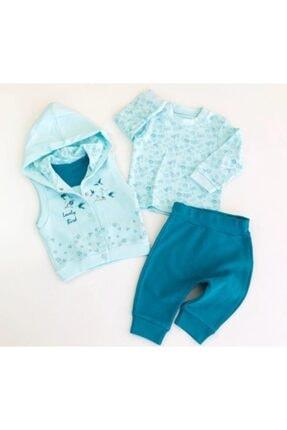 Ciccim Baby Kız Bebek Kapşonlu 4 Mevsimlik 3'lü Takım - Bebek Doğum Hediyesi