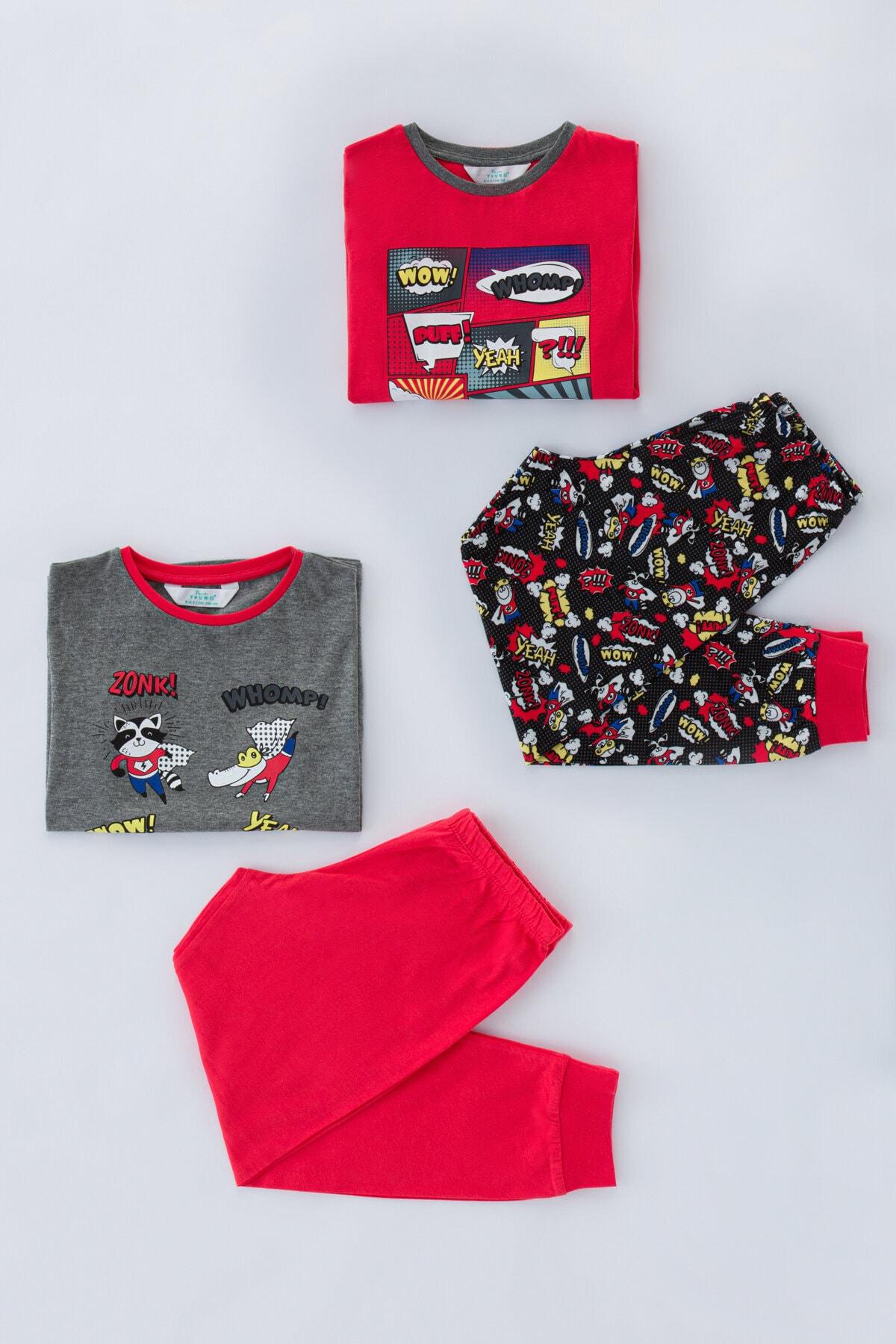 Penti Çok Renkli Erkek Çocuk Comıcs 4Lü Pijama Takımı