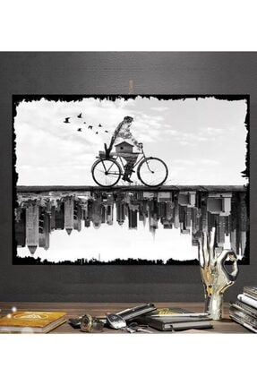 Tontilika Arasında Isimli Sürrealist Tasarım 50x70cm Hediyelik Dekoratif 8mm Ahşap Tablo