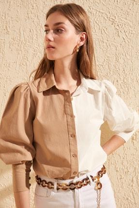 TRENDYOLMİLLA Taş Manşet Detaylı Gömlek TWOSS20GO0065