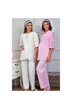 Haluk Bayram Baha 3112 3'lü Hamile Pijama Takım
