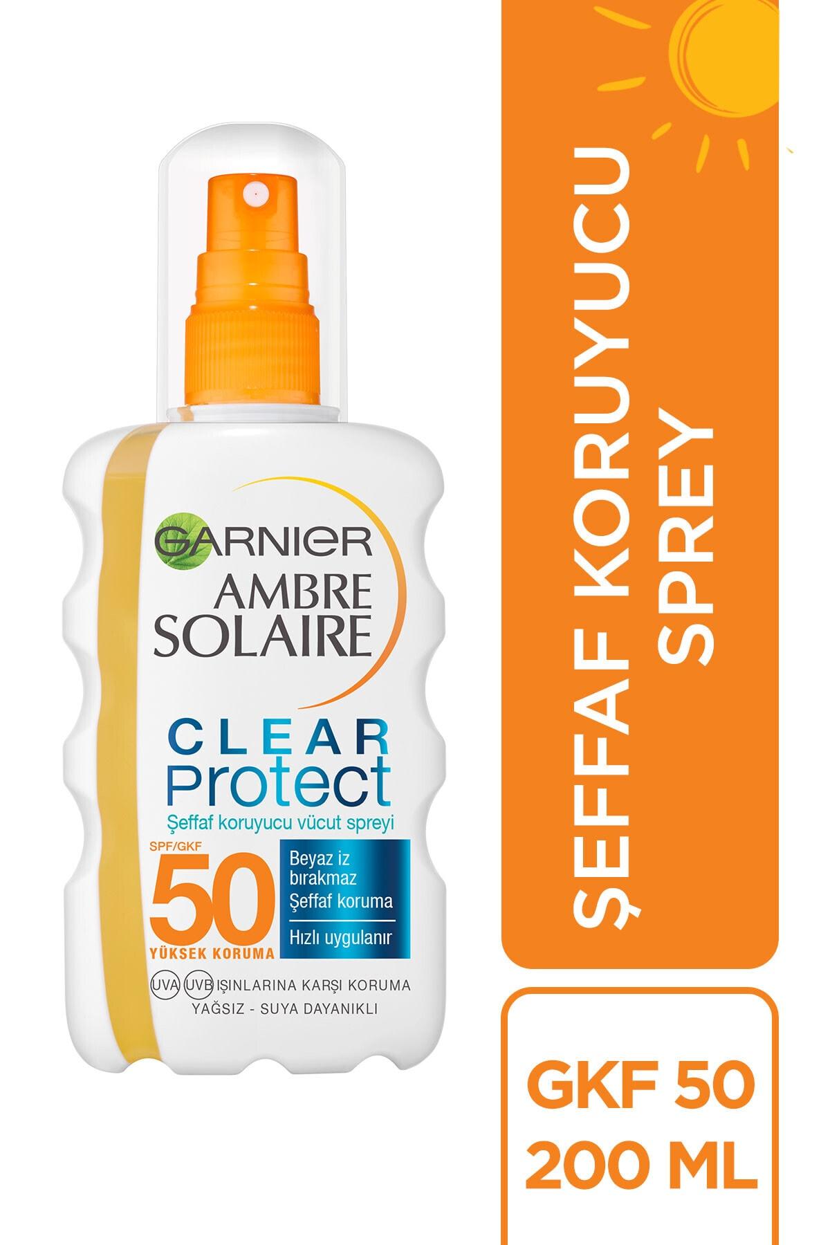 Garnier Ambre Solaire Clear Protect Şeffaf Vücüd Spreyi Gkf50 200ml 2