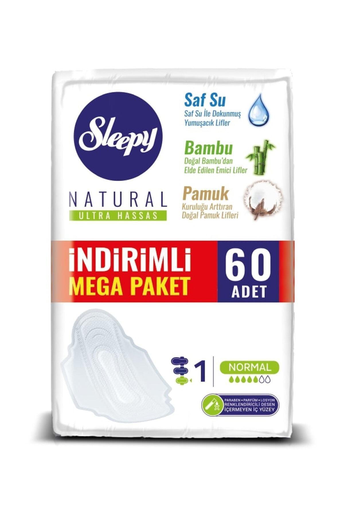 Sleepy Hijyenik Ped Natural Ultra Hassas Normal Mega Paketi - 60'lı 1
