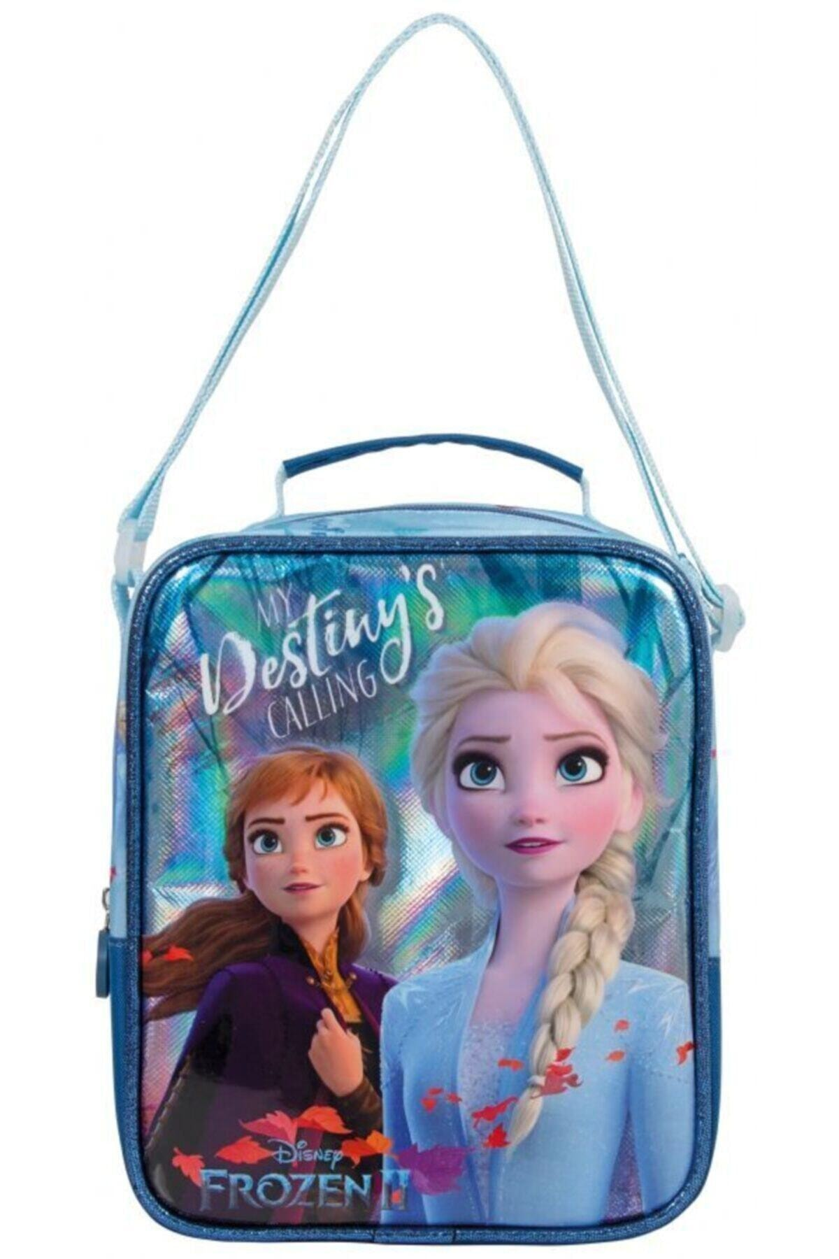 Frocx Kız Çocuk Frozen Anna Ve Elsa Desenli Parlak Lüks Beslenme Çantası 1