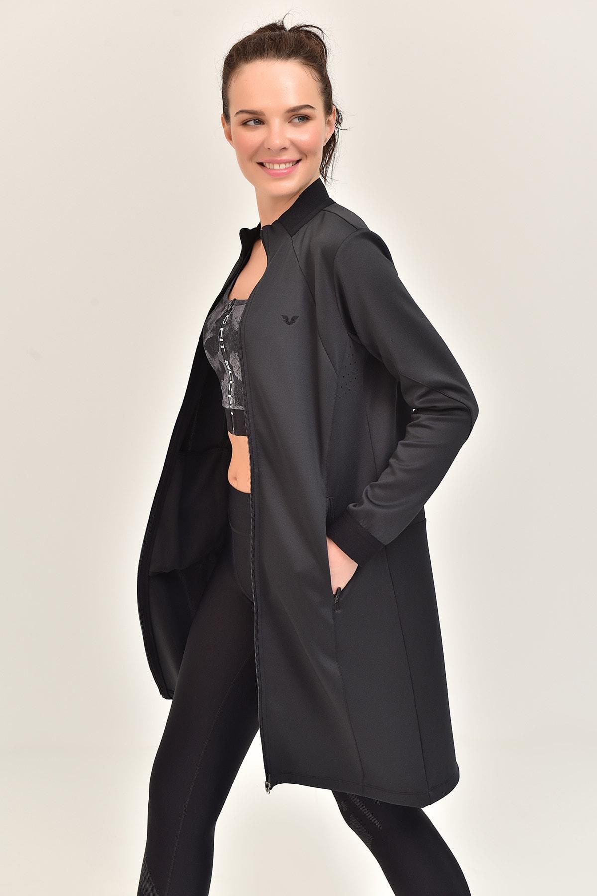 bilcee Füme Kadın Uzun Ceket  GS-1516 2