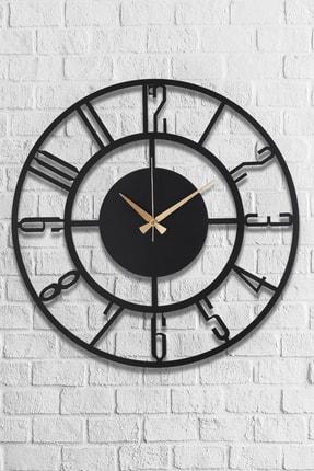Muyika Design Muyika Bunnela Metal Siyah Duvar Saati 50x50 cm