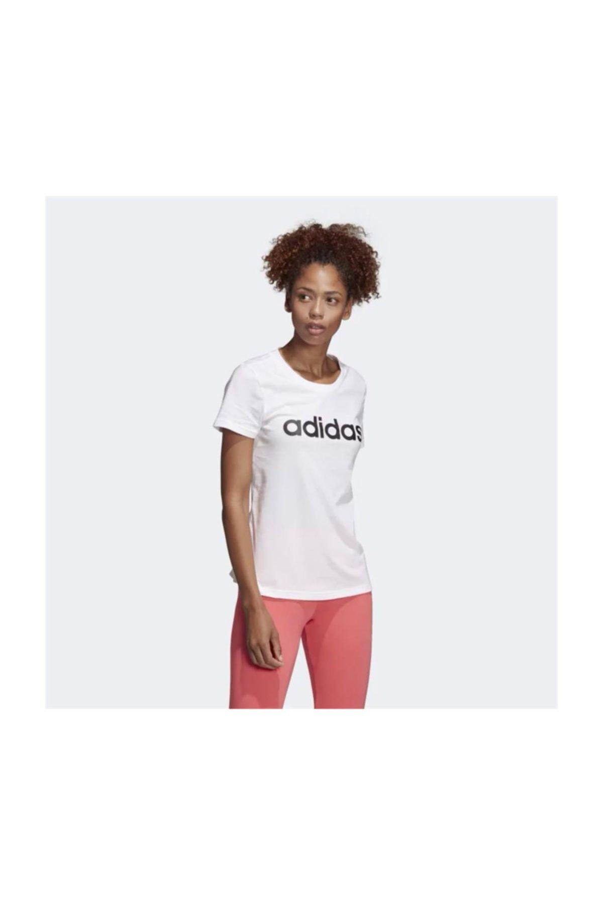 adidas W E LIN SLIM T Kadın Tişört 1