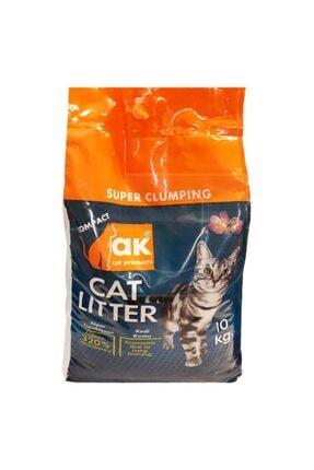 Akkum Kokulu Topaklaşan Kalın Kedi Kumu 10 Kg