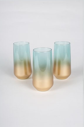Rakle Glow 3'lü Meşrubat Bardağı Seti Yeşil 470 cc