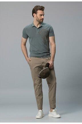 Lufian Erkek Haki Abas Vintage Polo T- Shirt